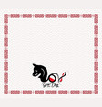 chinese new year design icon dog in traditional vector image vector image