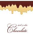 chocolate seamless pattern drip dark milk vector image vector image