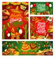 cinco de mayo fiesta mexican holiday calligraphy vector image vector image
