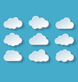 clouds with shadow vector image vector image