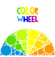 color wheel or color circle on background vector image vector image