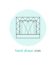 concert stage icon line element vector image