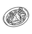 coq au vin icon doodle hand drawn or outline icon vector image vector image