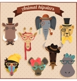 Cute fashion Hipster African Animals vector image vector image