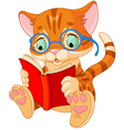 cute kitten education vector image vector image