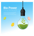 energy concept background with bio energy in vector image vector image
