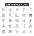 experience line icons signs set outline vector image vector image