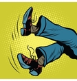 feet man falls vector image