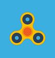 fidget spinner flat design icon vector image vector image