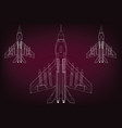 fighters on a burgundy vector image vector image