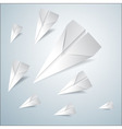 Folded paper airplanes set vector image vector image