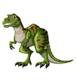 Green tyrannosaurus rex on white background vector image