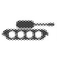halftone dot military tank icon vector image