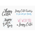 Happy easter day simple lettering vector image vector image