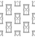 hourglass black and white seamless pattern for vector image vector image