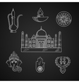 Indian religion and culture symbols vector image vector image