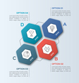 infographic template with hexagons 4 options vector image vector image