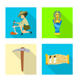 isolated object of story and items sign vector image vector image
