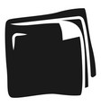 leather wallet icon simple style vector image