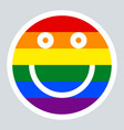 Lgbt rainbow flag smiling face smiley icon