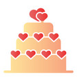love cake flat icon valentine cake color icons in vector image vector image
