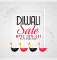 lovely sale template for diwali festival vector image vector image