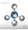 Methane Molecule 01 A vector image vector image
