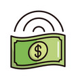 money banknote shopping or payment mobile banking vector image