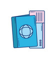 passport and ticket travel aviation transport vector image vector image
