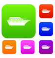 powerboat set collection vector image vector image