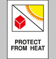 protect from heat sign vector image vector image