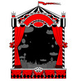 puppet show booth with theater masks curtain vector image vector image