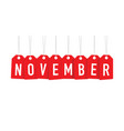 red november tags vector image vector image