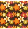 Retro Style Colorful Flower Seamless Pattern vector image vector image