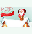 santa claus with reindeer coming to house vector image vector image