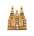 santiago de compostela cathedral famous vector image