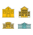 school icon set color outline style vector image
