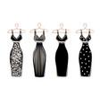 set dresses on hangers vector image vector image