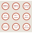 set flat sale icons vector image