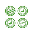 set of vegetarian food stamps vector image vector image
