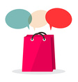Shopping Bag with Empty Speech Bubbles Isolated on vector image vector image