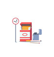 smoking addiction icons sign with cigarette and vector image