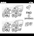 spot the difference with cars coloring book vector image vector image