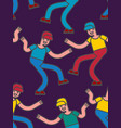 street dancing seamless pattern guy dancing vector image