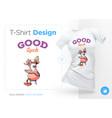 stylish duck print on t-shirts sweatshirts vector image vector image