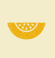 stylized flat icon of a melon vector image vector image