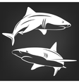 Stylized two sharks vector image vector image