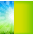 Summer Abstract Background with grass and vector image vector image
