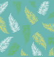 summer banner with tropical leaves vector image