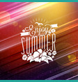 summer vacation and summertime traveling poster vector image vector image